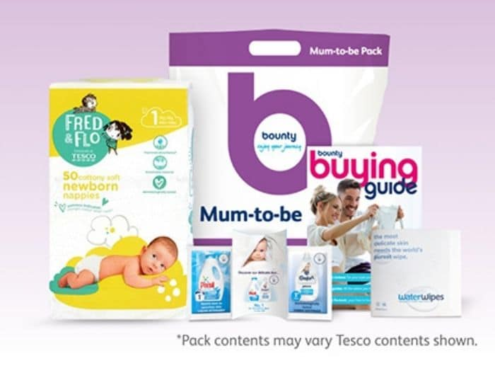 bounty mum-to be free pregnancy pack
