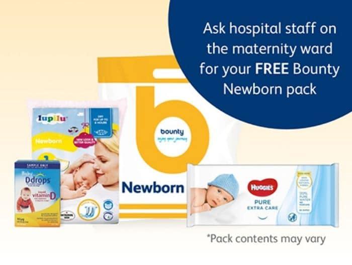 bounty newborn free baby gift packs