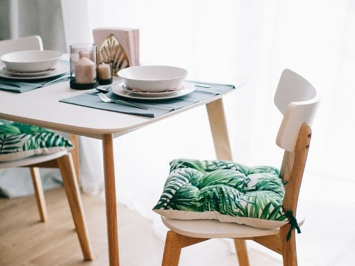 chair at dining table