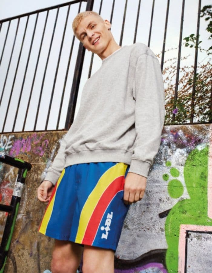 man wearing lidl by lidl shorts