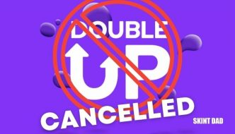 double up logo with a cancelled icon over the top