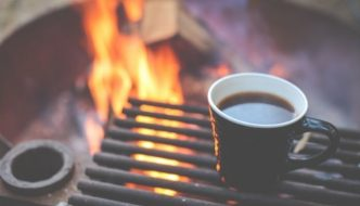 cup on campfire
