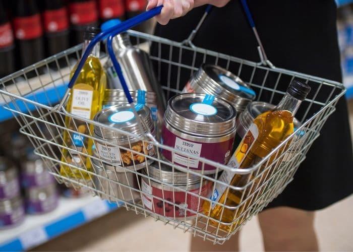 tesco loop products in basket