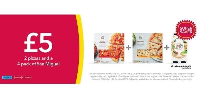 co op pizza deal