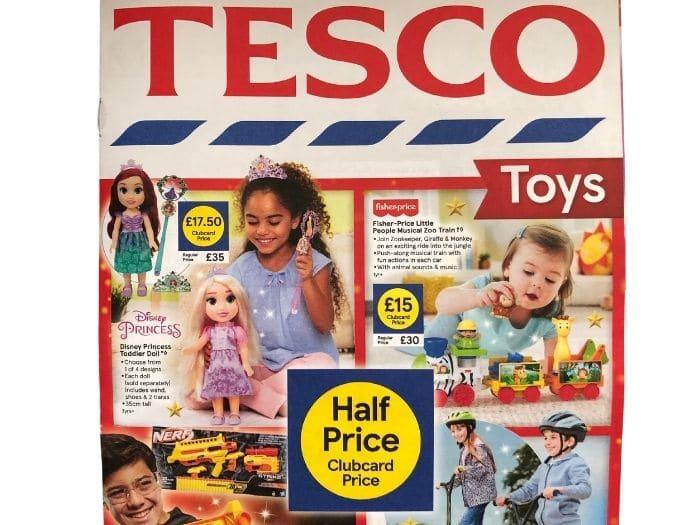 tesco half price toy sale leaflet